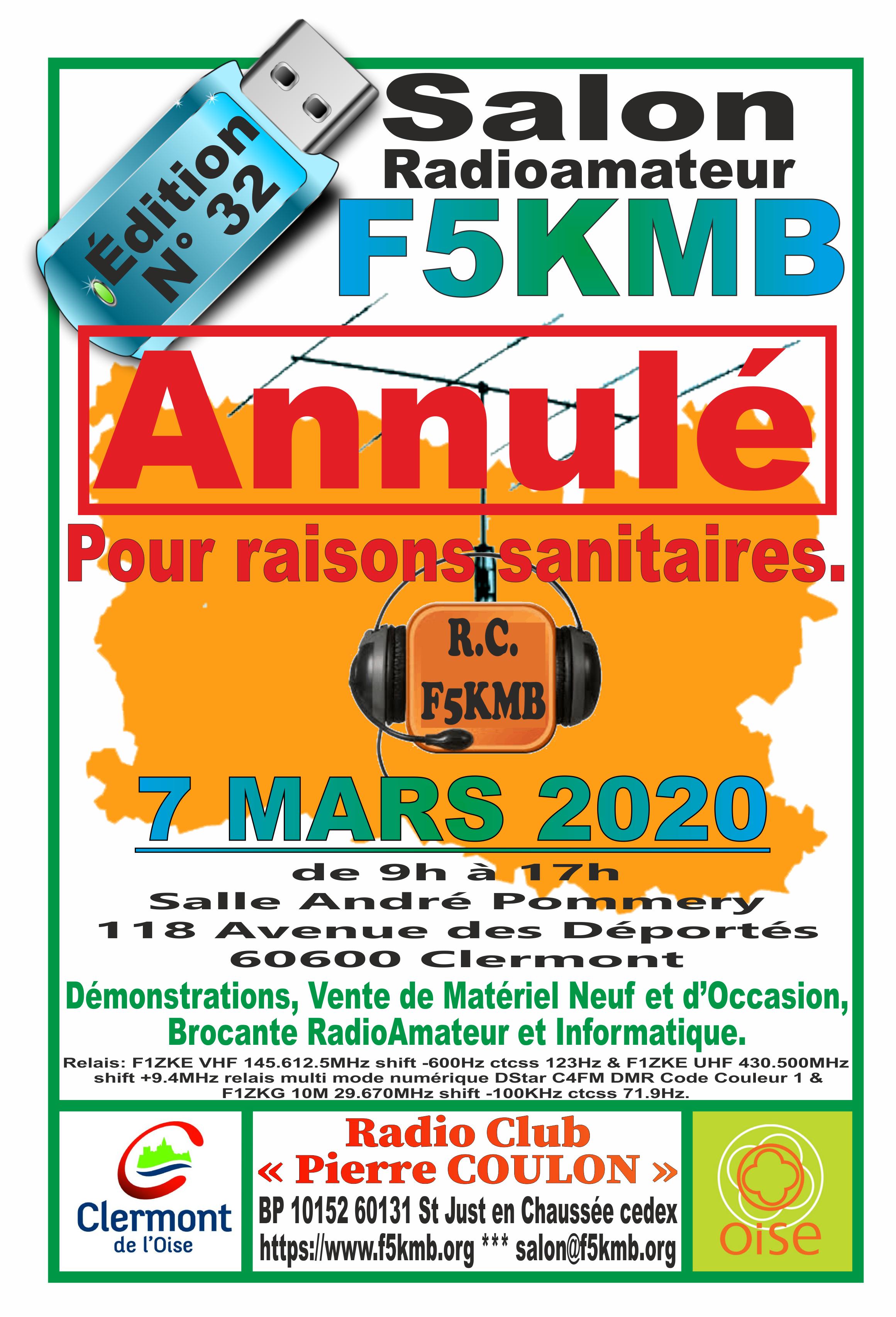 [Annulé] 32eme Salon Radioamateur de F5KMB Clermont (60) (07/03/2020) AFFICHE-2020-ANNULE